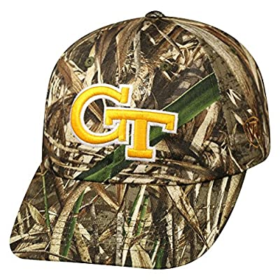 "Georgia Tech Yellowjackets NCAA TOW ""Crew Max"" RealTree Camo Adjustable Hat by Top of the World"