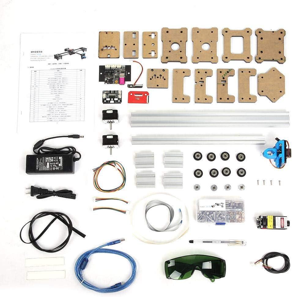 Acogedor - Kit de trazador CNC XY, 2 Axis XY Drawbot Pen Machine, 100-240 Vac máquina de Dibujo Robot, Soporte para JPG, Formato de Imagen BMP, Entrada de Texto y Entrada de