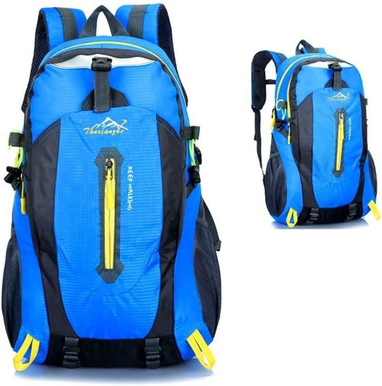 Y-RD バックパックラップトップ防水アウトドアバックパックハイキングバックパック、バックパック-ハイキング、フィールド防水、ウェアラブル、折り畳み式、軽量バックパック-レディースメンズバックパック、ブルー 無料郵送