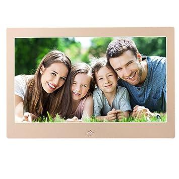 Marco digital de alta definición de 10 pulgadas Álbum digital de alta resolución 1024 × 600 con control remoto Funciones múltiples Reloj LED Calendario MP3 ...