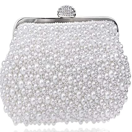 08bcf9213f Image Unavailable. Image not available for. Color: Women Messenger Beaded  Vintage Evening Bags, Imitation ...