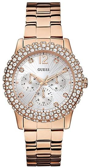 Guess Reloj Análogo clásico para Mujer de Cuarzo con Correa en Acero Inoxidable W0335L3: Amazon.es: Relojes