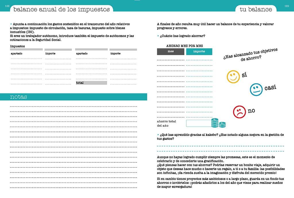 Kakebo: Libro de cuentas para ahorrar y gestionar tus gastos ...