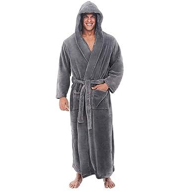 ❤ Mens Luxury Soft Dressing Gown Robe Terry Towel Bathrobe Bath Gym ... b974d2a05