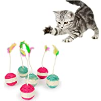 Pet Cat Kitten Toy Rolling Sisal Scratching Cat Toy | Funny Kitten Play Dolls