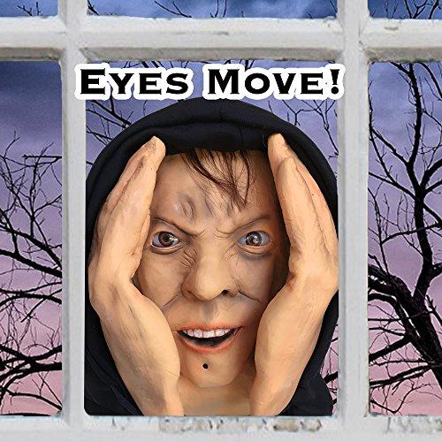 Scary Peeper Motion Sensor Animated Eyes Creeper Window Prop - Halloween Haunted House Prank Decoration Display Window Cling by Scary Peeper (Image #2)