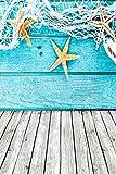 Yeele 5x7ft Wooden Floor Photo Backdrops Vinyl Starfish Splint Fishing Net Sailor Theme Photography Background Newborn Artistic Portrait Photoshoot Studio Props Video Drape Wallpaper