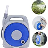 Hose Reel Portable, Watering Flowers Car Washing Water Gun High Pressure Spray Nozzle Hose Carts Wall Mounted (Color…
