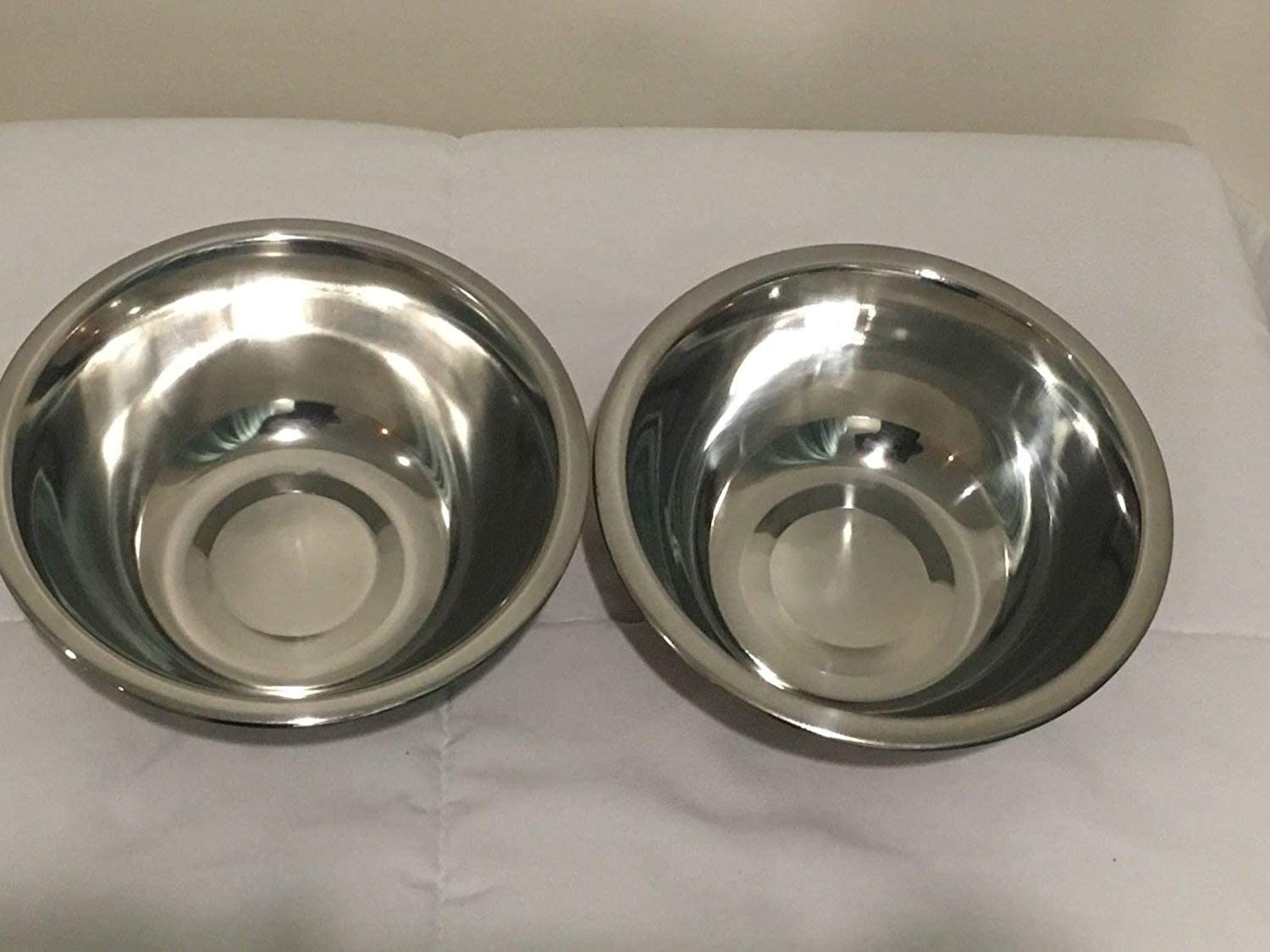 2 Copper Plated Stainless Steel Mixing Bowls