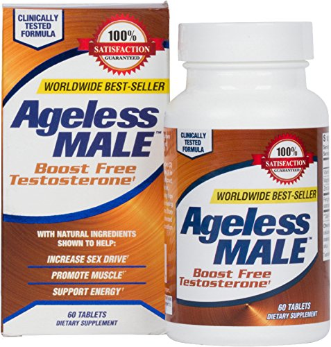 Ageless Male Testosterone Booster Supplement for Muscle Growth & Sex Drive + E BOOK! (60 Tablets)