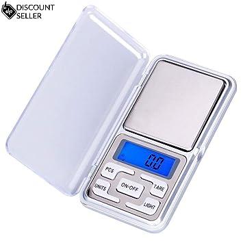 Báscula digital (500 g/0,01 g) Báscula de bolsillo de alta