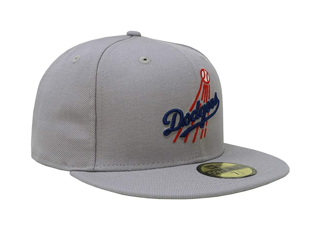 new product ac205 32083 Amazon.com  New Era 59Fifty Hat Los Angeles Dodgers LA Cooperstown 1958  Wool Fitted Cap  Clothing