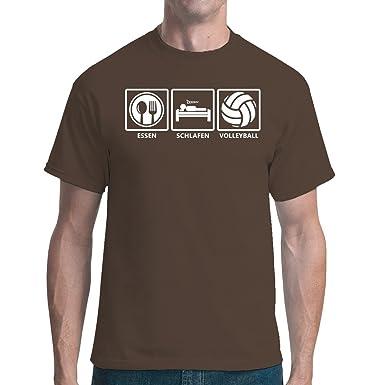 Sport unisex T-Shirt - Essen - Schlafen - Volleyball: Fun Shirt by Im