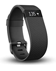 Fitbit Charge HR Wireless Activity Wristband, Black, Small