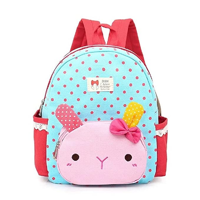 bd88a95dca Little-Sweet Cute Rabbit Toddler Backpacks Kids School Bags Children  Preschool Lunch Bags (Blue