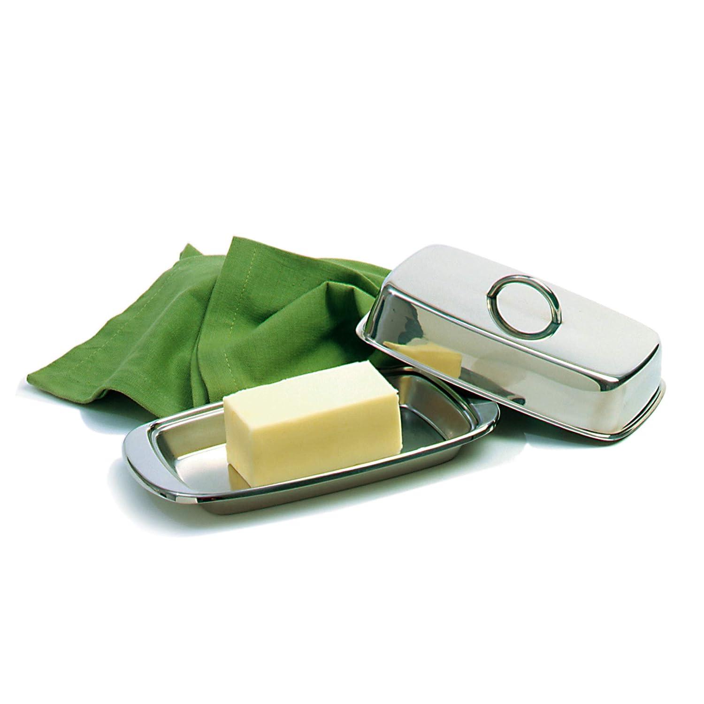 doppelt verdeckt silberfarben Norpro 282 Butterdose Edelstahl