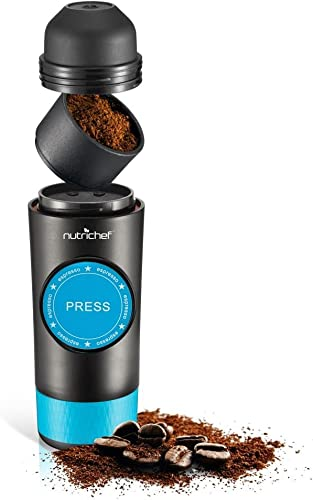 Upgraded Portable Electric Espresso 4335463708 Maker, 2 in 1 Capsule & Ground Espresso Option Easy Refill Water Tank 90 mL