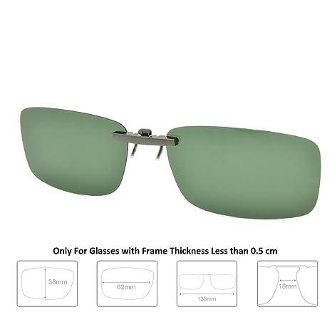 5ebb727c183 Enem Day Vision Polarized Green Clip-on Metal Clip Driving Sunglasses   Amazon.in  Car   Motorbike