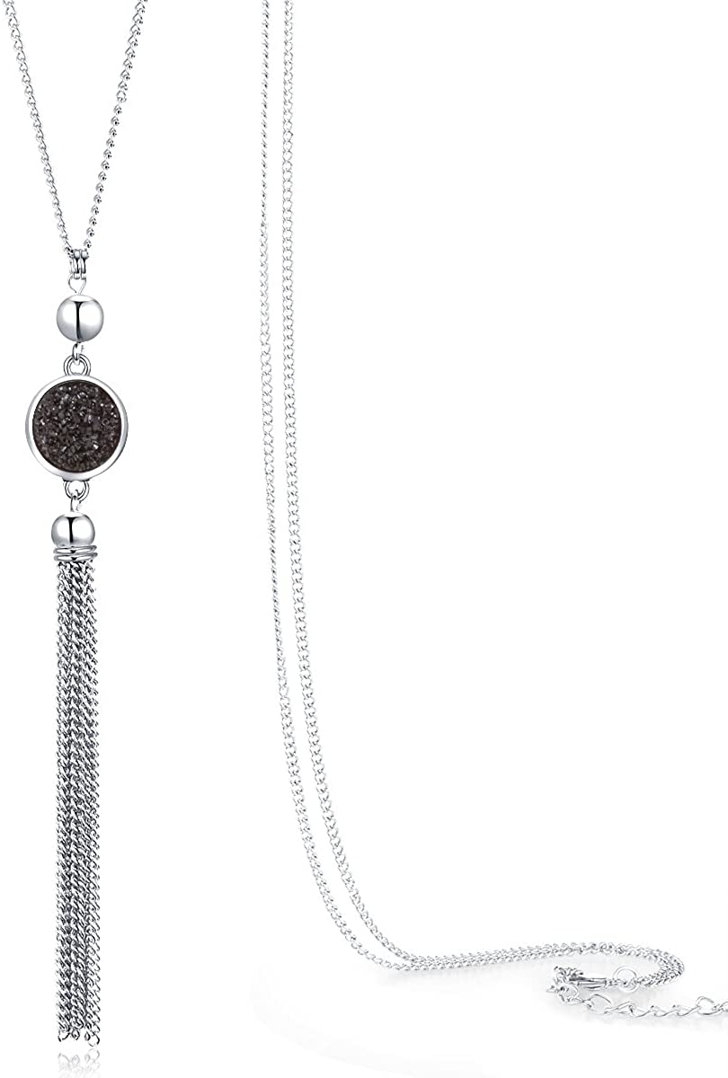 Jude Jewelers Vintage Long Sweater Necklace Chain Pendant Tassel Bohemian Classical Retro Style