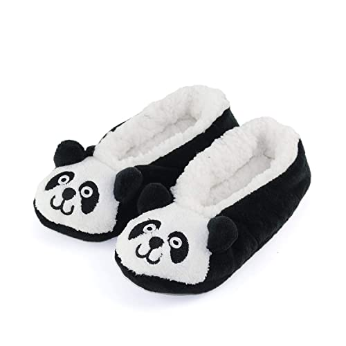9d32b6caf8ff2c Womens Warm Cozy and Lovely Animal Non-Skid Knit Indoor Home Floor Slippers  Socks for