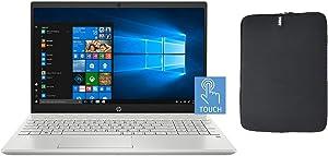 HP 15.6 Inch FHD Touchscreen Laptop Bundle with WOOV Accessory, 10th Gen Intel Quad Core i5-1035G1 (Beat i7-8550U), 16GB RAM, 1TB SSD, Backlit Keyboard, Windows 10 Home