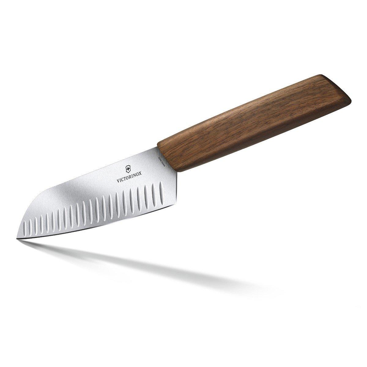Victorinox 6.9050.17KG Modern Santoku Knife, 7'', Walnut Wood by Victorinox (Image #2)