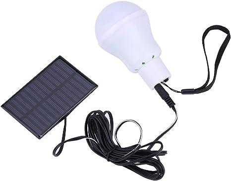 Bombilla de LED Solar Portátil, Haofy Linterna Alimentada por Energía Solar, Luces de Emergencia para Acampar en Interiores o al Aire Libre, Tiendas ...