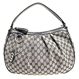 Gucci Sukey Hobo Gucci GG Logo Monogram Navy Leather Hobo Shoulder Bag