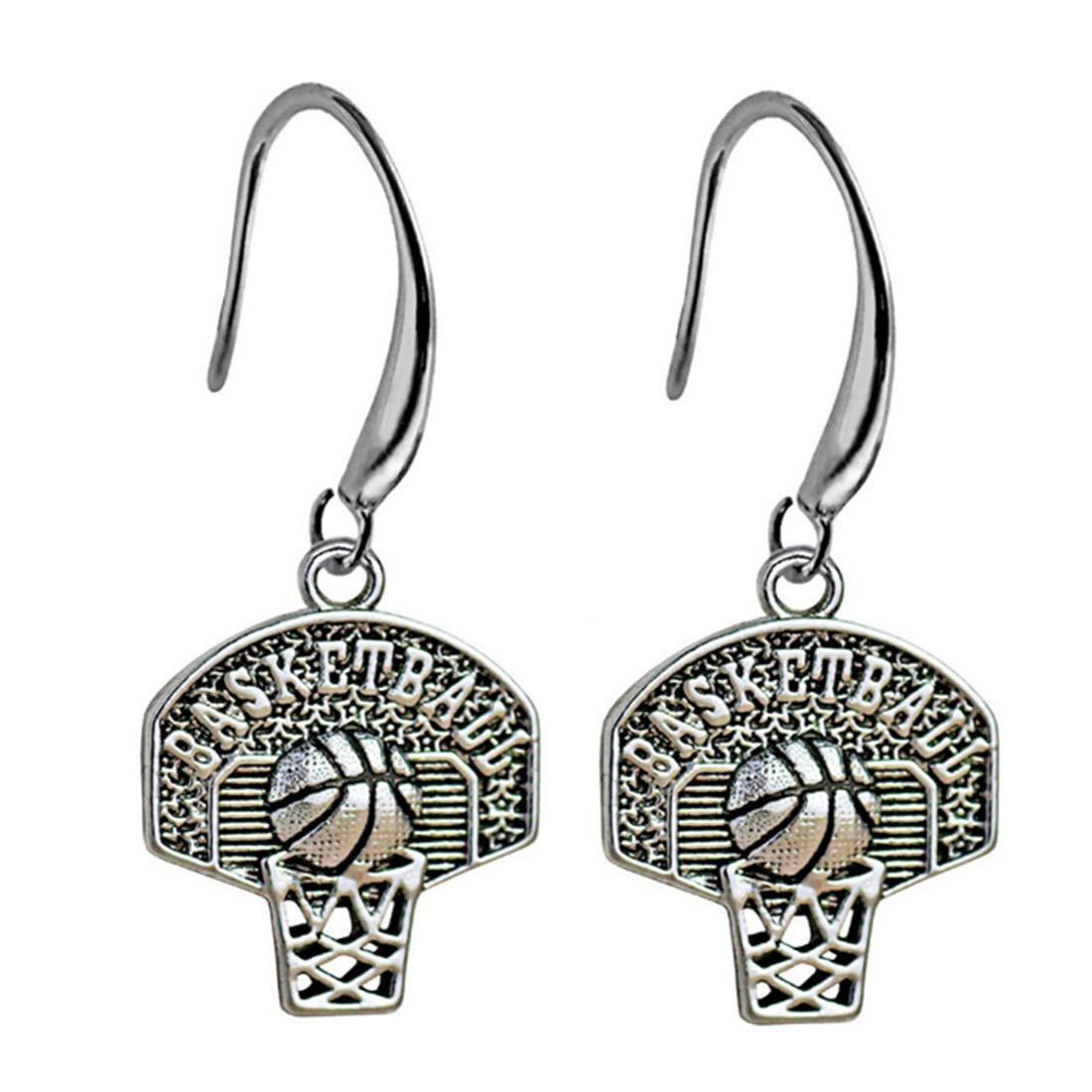 Basketball Earrings Basketball Jewelry Basketball Gift Basketball Charm Basketball Pendant Sports Earrings Sports Jewelry Sports Gift