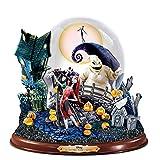 Disney Tim Burton's The Nightmare Before Christmas Illuminated Musical Snowglobe by The Bradford Exchange