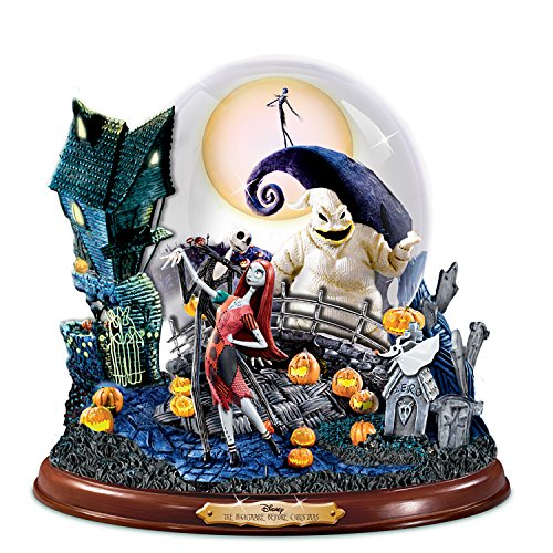 Disney Tim Burton's The Nightmare Before Christmas Illuminated Musical Snowglobe by The Bradford (This Is Halloween Song Tabs)