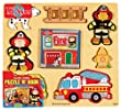 T.S. Shure Chunky World Fire Department Chunky Puzzle & Book