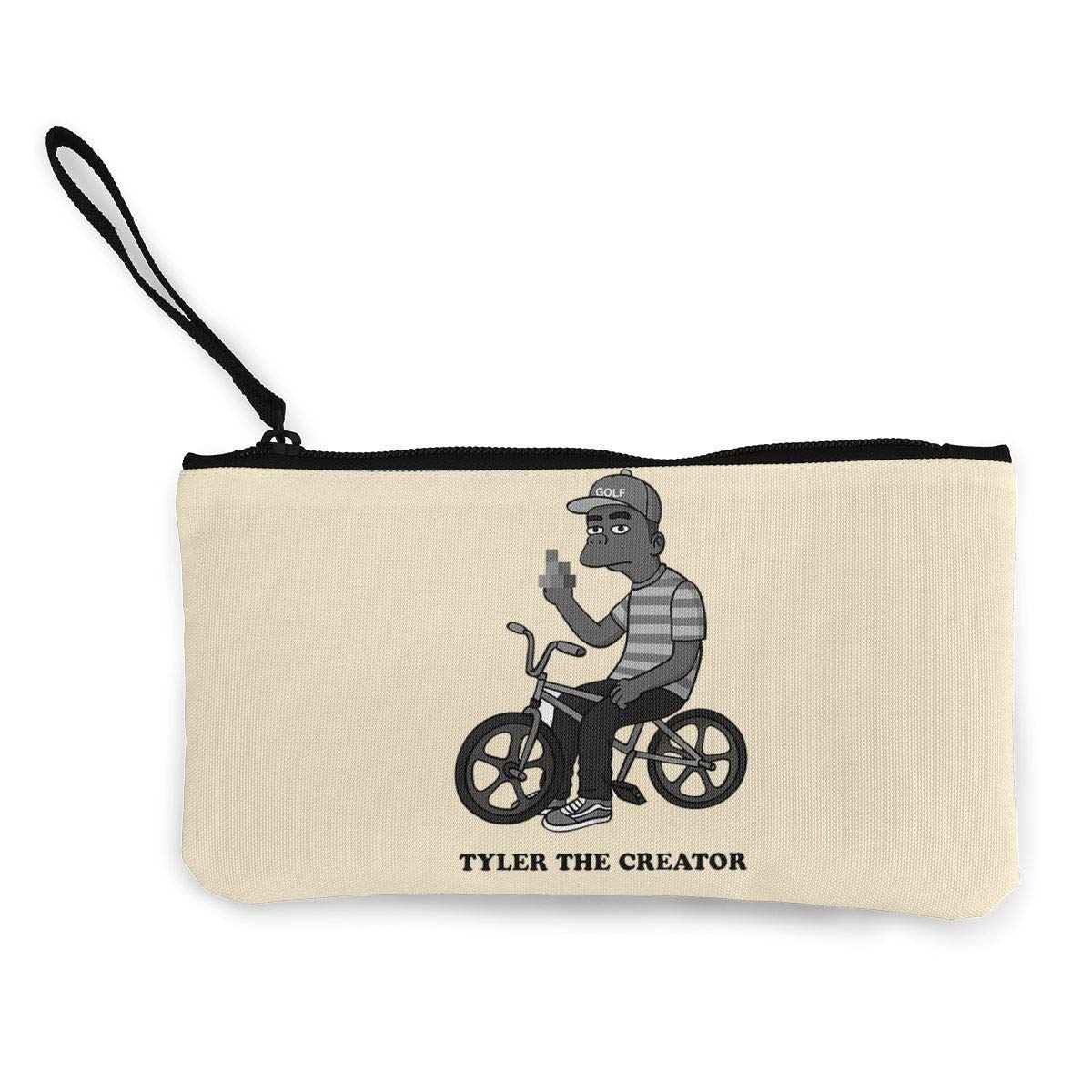 Tyler The Creator Canvas Cash Coin Purse Make Up Bag Cellphone Bag With Zipper And Handle