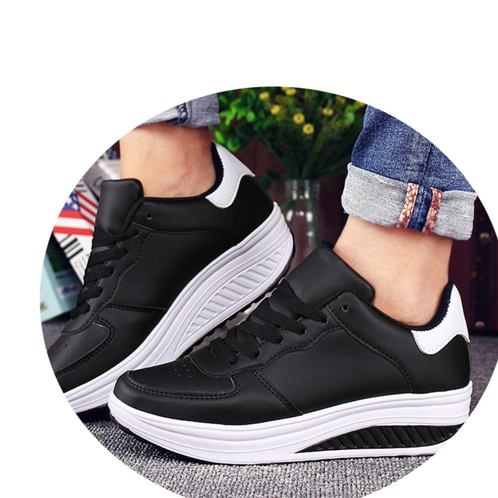 Amazon.com | Trainers Summer Wedges Casual Shoes Basket Femme Lace up Zapatillas Deportivas Mujer | Shoes