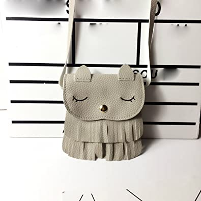 Women Cute Faux Suede Crossbody Cat Shoulder Bag Fringe Weave Tassel Messenger Handbag Over the Shoulder Purses: Handbags: Amazon.com