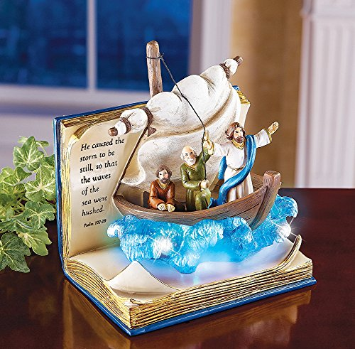 Calming The Storm Religious Tabletop Sculpture