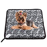 Lmeison 17.7''x17.7'' Water Resistant Pet Heating Pad Electric Heated Pads for Dog Cat with Safety Chew Resistant Cord