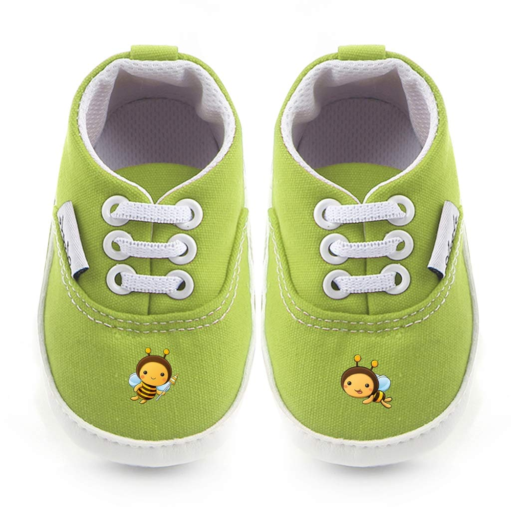 Non-Slip Baby Boys Girls Canvas Toddler Sneaker Anti-slip First Walkers Shoes 0-18 Months Bee