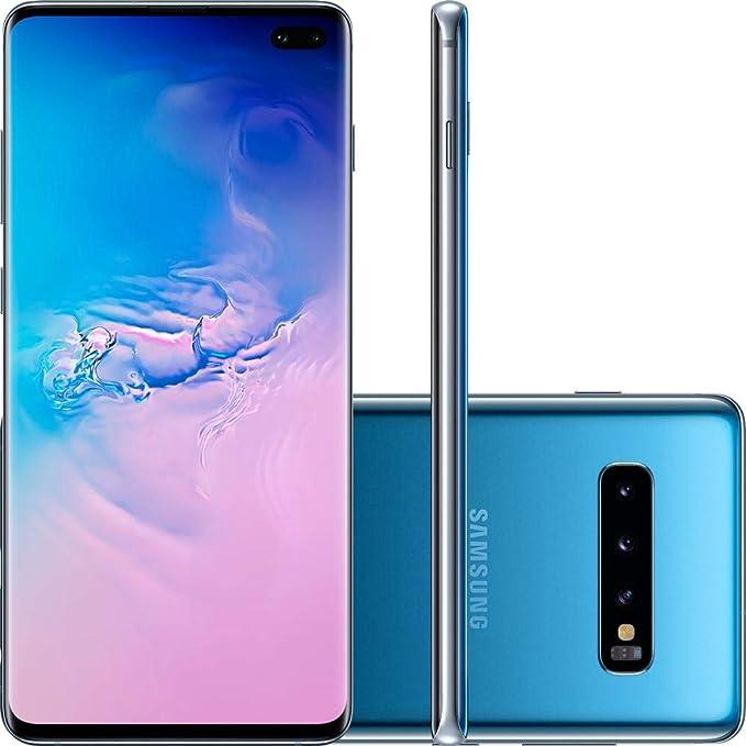 "Smartphone Samsung Galaxy S10 128GB Dual Chip Android 9.0 Tela 6.4"" Octa-Core 4G Câmera Tripla Traseira 12MP 12MP 16MP - Azul"