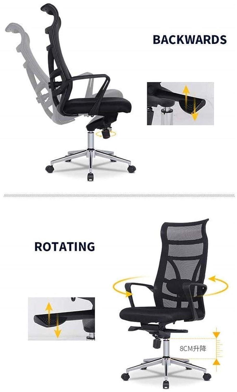 THBEIBEI Swivel kontorsstol spelstol datorstol hög rygg stol andningsbar bärkapacitet 300 kg flerfärgat valfritt (färg: Vit) Vitt