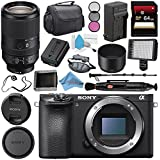 Sony Alpha a6500 Mirrorless Digital Camera (Body) ILCE6500/B + Sony FE 70-300mm f/4.5-5.6 G OSS Lens SEL70300G + NP-FW50 Replacement Lithium Ion Battery + Deluxe Cleaning Kit Bundle