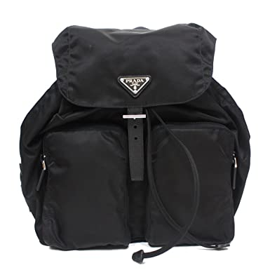7366350d9f0915 Amazon.com | Prada Tessuto Zainetto Nylon and Leather Backpack ...