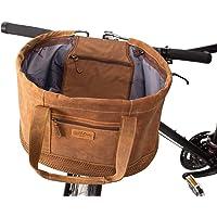 Gusti stuurtas fiets leer - Egan B. schoudertas fietstas met bevestiging leren tas bruin
