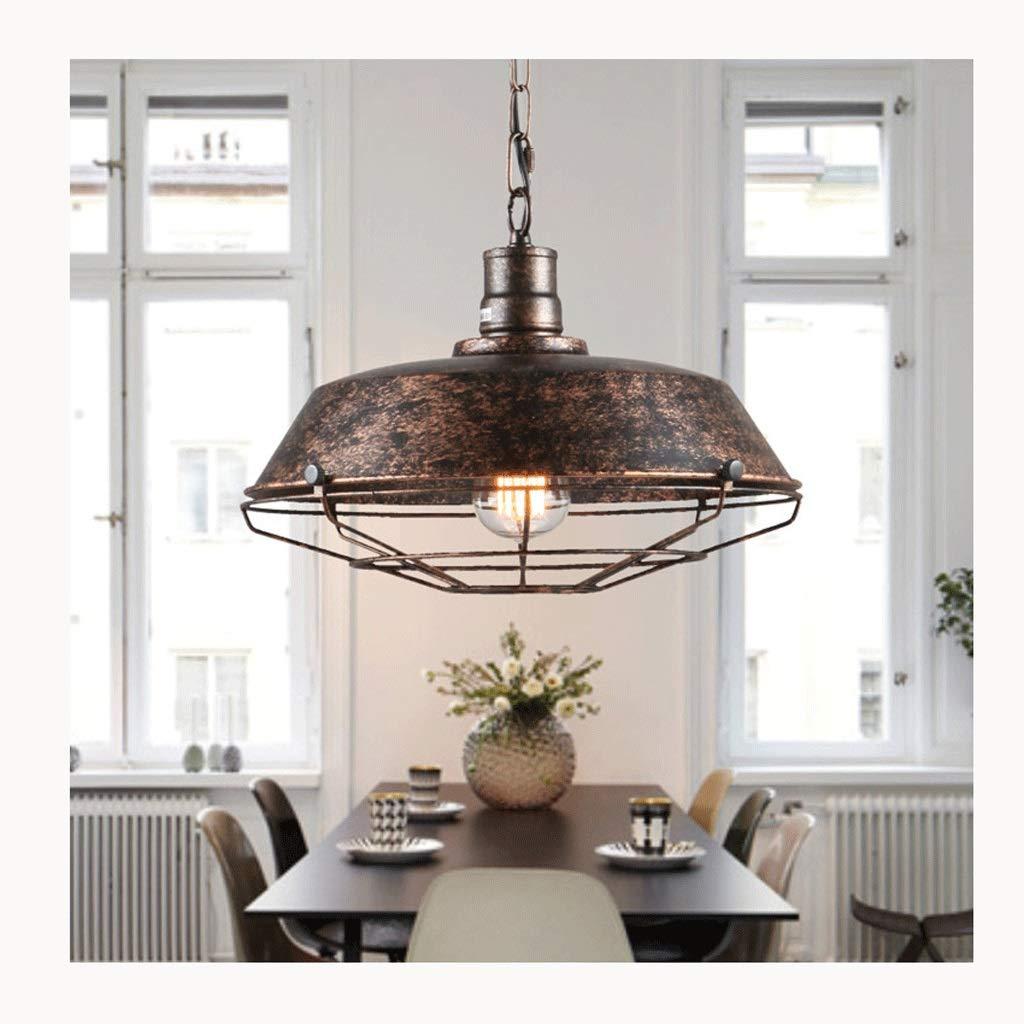 Hyvaluable Pendelleuchten Vintage Industrie Kronleuchter Restaurant Hotel Eisen Topf Net Kronleuchter Beleuchtung (Farbe   Rost)