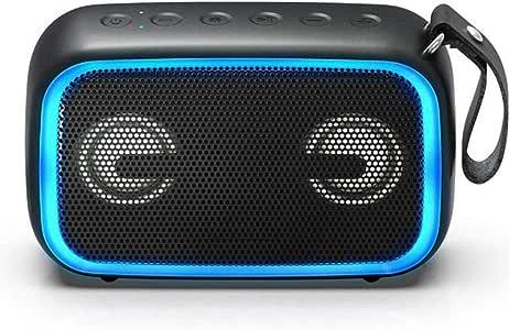 Subwoofer outdoor lighting speaker card, 28W portable outdoor speaker, IPX7 waterproof, wireless stereo pairing, 12H playback time