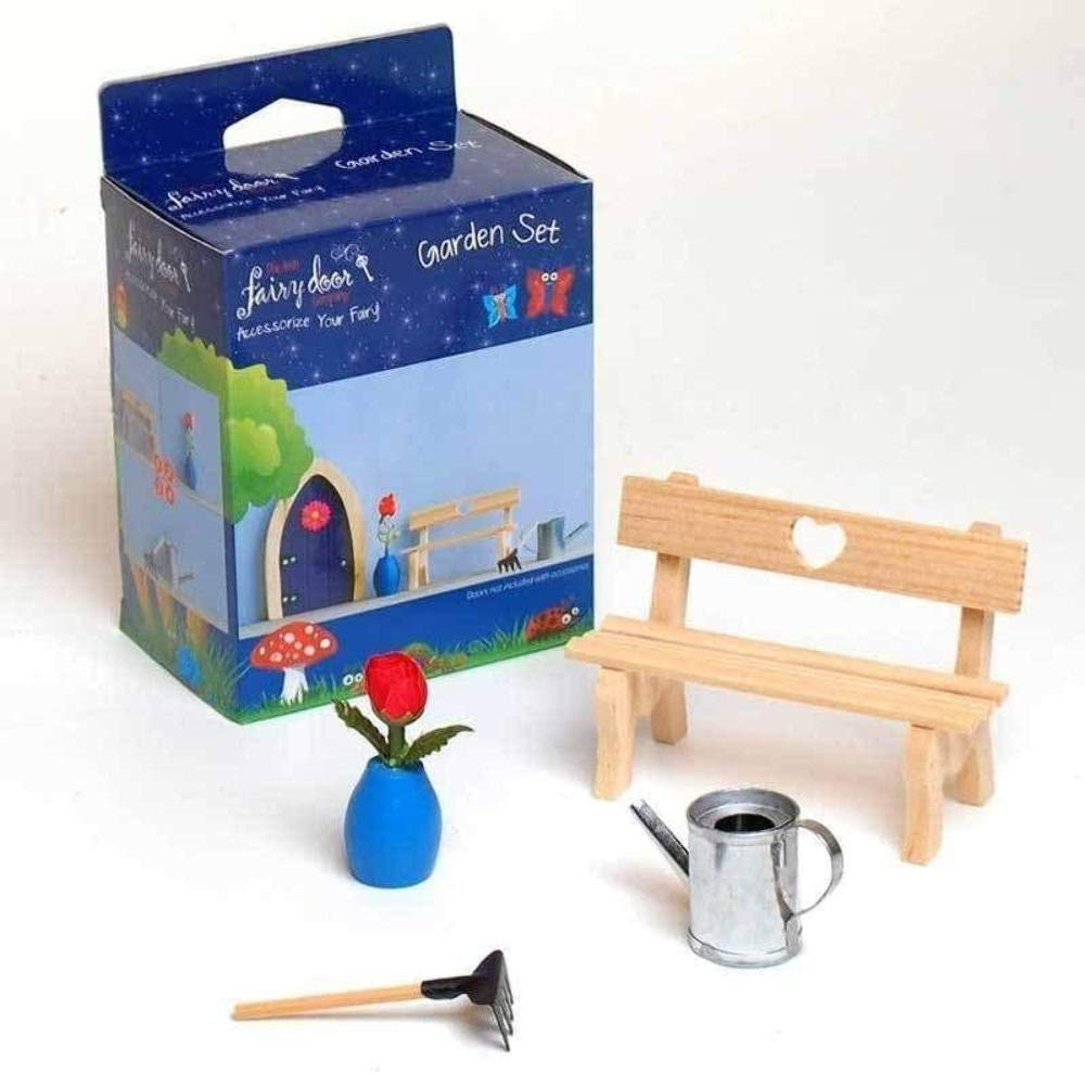 The Irish Fairy Door Company FD554153 Garden Accessory Set