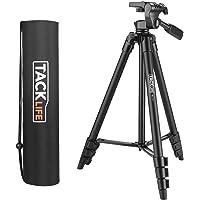 Trépied Ultraléger, TACKLIFE-MLT01/40.5cm-136cm /3 Tête Pivotante/Solide et Pliable, pour Appareils Photo, Lasers à Réticule