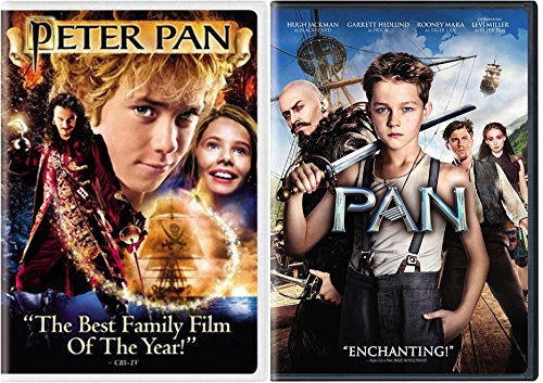 Pan + Peter Pan 2004 (Widescreen Edition) DVD Fantasy Bundle Movie - Hugh Jackman Glasses