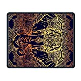 Beautiful Golden Elephant Floral Office Rectangle Non-Slip Rubber Mouse Pad Entertainment Gaming Mouse Pad for Laptop Displays Tablet Keyboard