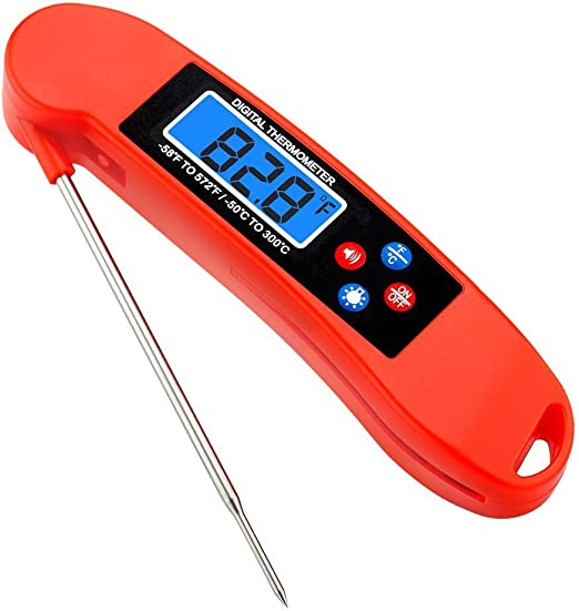 Digital Food Thermometer Probe with Instant Read LCD Screen Anti-Corrosion Kitch